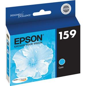 Epson T159220 UltraChrome Hi-Gloss 2 Photo Cyan Ink Cartridge T159220