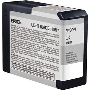 Epson T580700 80ml UltraChrome Cartridge, Light Black: Picture 1 regular