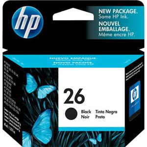 HP #26 Black Ink Cartridge 51626A