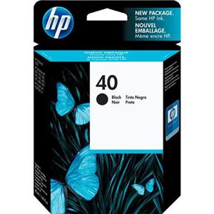 HP #40 Black Ink Cartridge 51640A