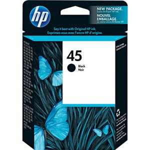 HP #45 Black Ink Cartridge 51645A