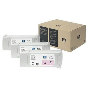 HP 81 3 Pack 680-ml Light Magenta Dye Ink Cartridges C5071A