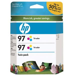 HP C9349FN #97 2-Pack Tri-Color Inkjet Cartridges: Picture 1 regular