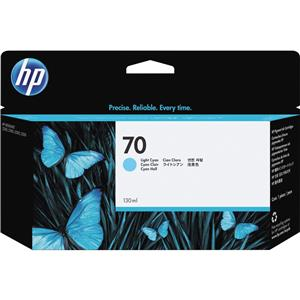 HP 70 Light Cyan Color 130 ml Vivera Ink Cartridge C9390A