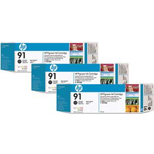 HP 91 3 Pack 775-ml Photo Black Ink Cartridges: Picture 1 regular