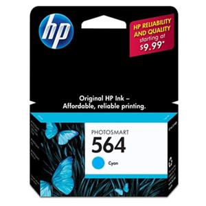 HP 564 Cyan Ink Cartridge (CB318WN): Picture 1 regular