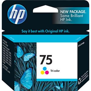 HP 75 Tri-Color Inkjet Print Cartridge CB337WN