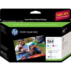 HP 564 Series 3-ink Photo Value Pack CG925AN