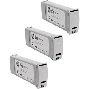 HP CR256A 771 3 Pack 775-ml Photo Black Ink Cartridges CR256A