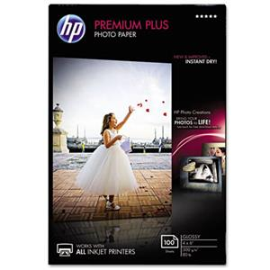 HP Premium Plus Glossy Photo Inkjet Paper, 4 x 6 inch, 100 Sheets: Picture 1 regular