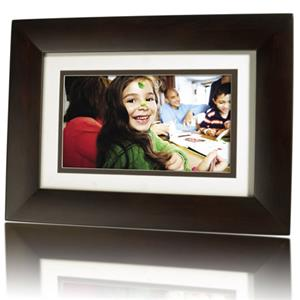 HP DF730P1 7 inch LCD Digital Photo Frame, Dark Wood: Picture 1 regular