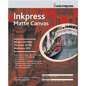 Inkpress Artist's ACW851110 Waterproof Canvas 8.5x11
