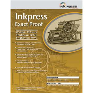 Inkpress Exact Proof Inkjet Paper, 44in x 100ft Roll: Picture 1 regular