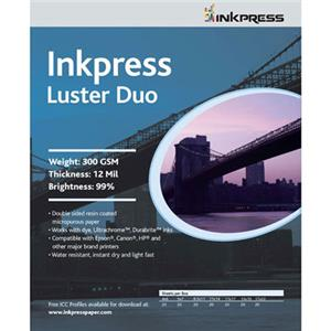 Inkpress PCLD111750 Luster-Duo Inkjet Paper 11x17in, 50: Picture 1 regular