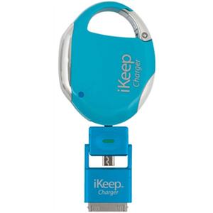 iKeep Universal Smartphone Retractable Charger & Clip On Security Device, Blue: Picture 1 regular