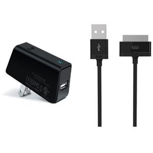 iLuv IAD563BLK USB AC Charger with Charge/Sync Cable for iPad, iPhone and iPod: Picture 1 regular