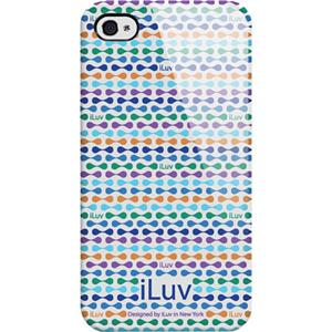iLuv Hardshell Case for iPhone 4/ 4GS, Festival Blue: Picture 1 regular