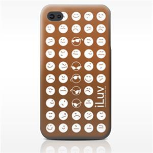 iLuv Soft-coated Emoticon Ultra Thin Case ICC731BRN