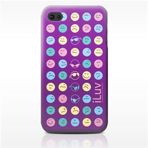 iLuv Soft-coated Emoticon Ultra Thin Case ICC731MIX