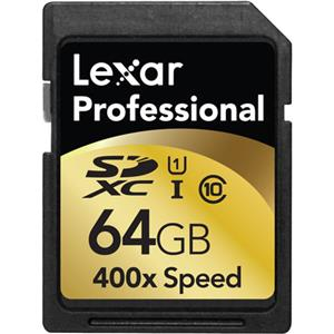 Lexar 64GB Class 10, Professional 400x SDXC UHS-I Memory Card: Picture 1 regular