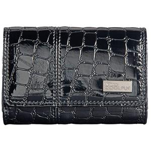 Nikon Coolpix S Series Faux Crocodile Skin Case, Black: Picture 1 regular