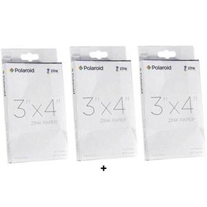 "Polaroid 3x4"" Zink Photo Paper 90 Sheets IPD3X4ZPP90"