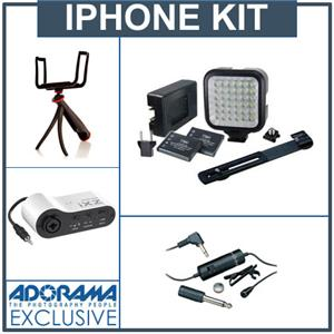 Adorama Lighting and Microphone Package with Stabilizer for iPhone: Picture 1 regular