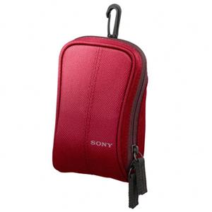 Sony LCS-CSW/R Lightweight Nylon CyberSoft Case, Red: Picture 1 regular