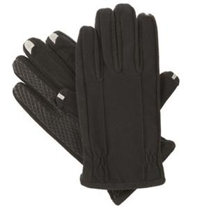 Isotoner Men's smarTouch 2.0 Tech Stretch Gloves, Fleece Lined, Medium, Black: Picture 1 regular