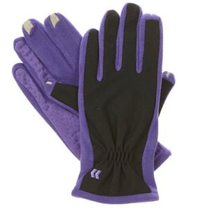 Isotoner Women's smarTouch 2.0 Tech Stretch Gloves, Medium/Large, Purple: Picture 1 regular