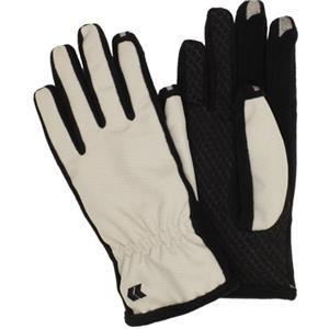 Isotoner Women's smarTouch 2.0 Matrix Nylon Gloves, Medium/Large, Platinum: Picture 1 regular