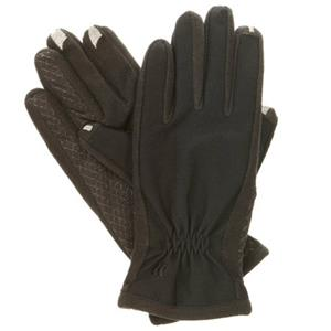 Isotoner Women's smarTouch 2.0 Matrix Nylon Gloves, Fleece Lined, X-Small, Black: Picture 1 regular