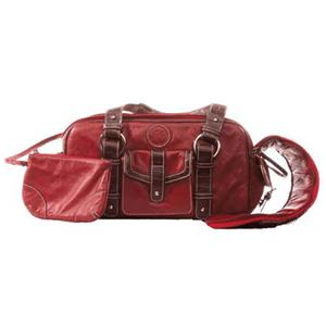 Jill.e 769367 Weatherproof Small Red Leather Camera Bag: Picture 1 regular