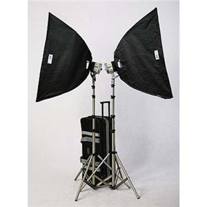 JTL HL-2000 Soft Box Kit #922001 w/2 Superlights, Bulbs, Stands, Softboxes & Cas: Picture 1 regular