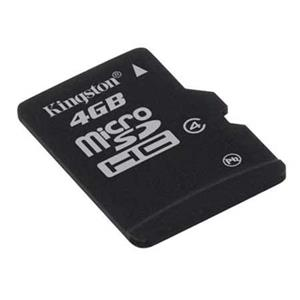 Kingston Technology 4GB microSDHC Class 4 Flash Memory Card without Adapter SDC4/4GBSP