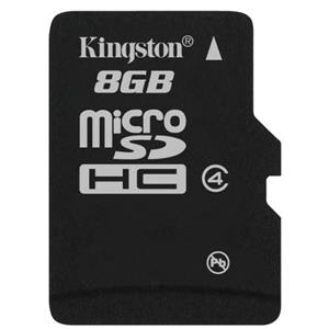 Kingston Technology 8GB microSDHC Class 4 Flash Memory Card without Adapter SDC4/8GBSP