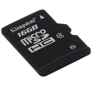 Kingston Technology 16GB microSDHC (Class 4) High Capacity Micro Secure Digital Card (SD adapter not included) SDC4/16GBSP