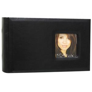 Kleer-Vu Euro Spec Leatherette Bookbound Album w/Window, Holds 100 4x6
