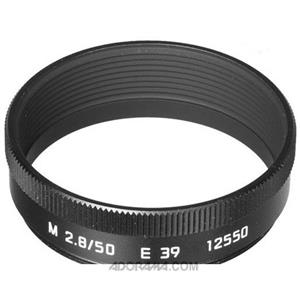 Leica 12550 Lens Hood for 50mm for 28 M Lens, Black: Picture 1 regular
