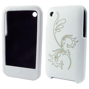 Lenmar iPhone 3G Case Slim Fit Faux Leather Hard Case Flower Design PA3GLHW