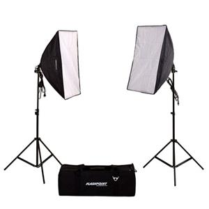 Flashpoint 2 Light Softbox Kit with Fluorescent Bulbs: Picture 1 regular