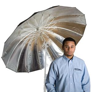 Flashpoint 16-Rib 60 inch Parabolic Silver Umbrella: Picture 1 regular