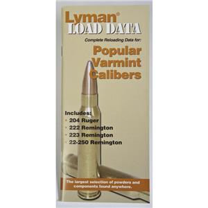 Lyman Popular Varmint Calibers Load Data Book, 20 & 22 Cal Rifles, #9780008: Picture 1 regular