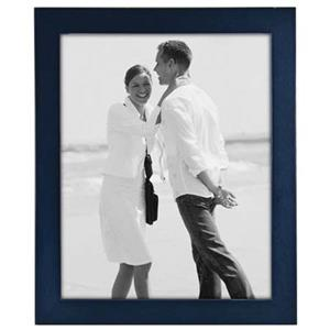 Malden Linear Series Wood Photo Frame, 8x10in, Blue: Picture 1 regular