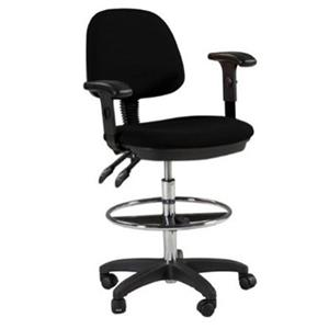 Martin Universal Design Feng Shui Drafting Height Chair, Black: Picture 1 regular