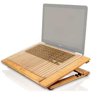 Macally ECOFANPRO Bamboo Adjustable Cooling Stand ECOFANPRO