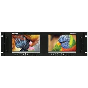 "Marshall V-MD72-HDSDIX2 7"" 3RU High Resolution LCD Rack Mount Monitor V-MD72-HDSDIX2"