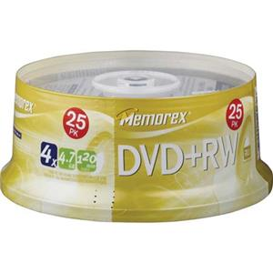 Memorex 5541 Disk 4x DVD+RW 4.7GB - 25 Pack Spindle: Picture 1 regular