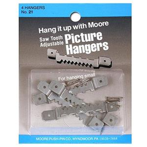 Moore Large Adjustable Saw Tooth Hangers 21