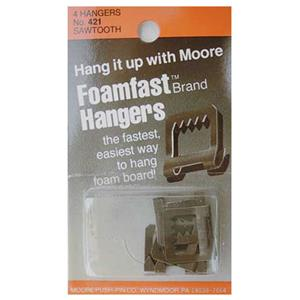 Moore Push Pin Foamfast Saw Tooth Hangers 421